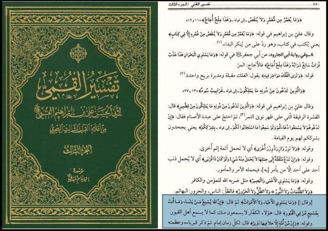 tafsir kummi 2 640x450 - 558. Развеивание доводов тех, кто взывает к ангелам и могилам